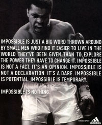 Impossible is nothing (1/2)